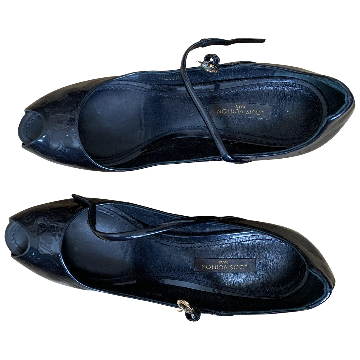 Louis Vuitton \N Navy Patent leather Heels for Women 38 EU