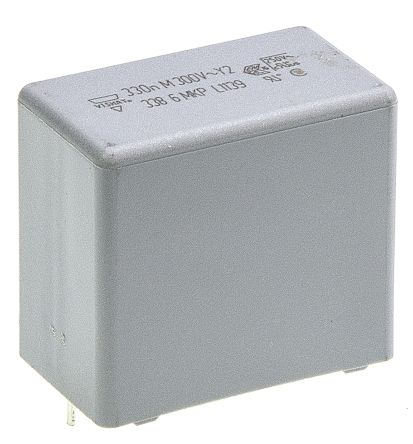 Vishay 330nF Polypropylene Capacitor PP 300V ac ±20% Tolerance Through Hole MKP 338 Series (5)