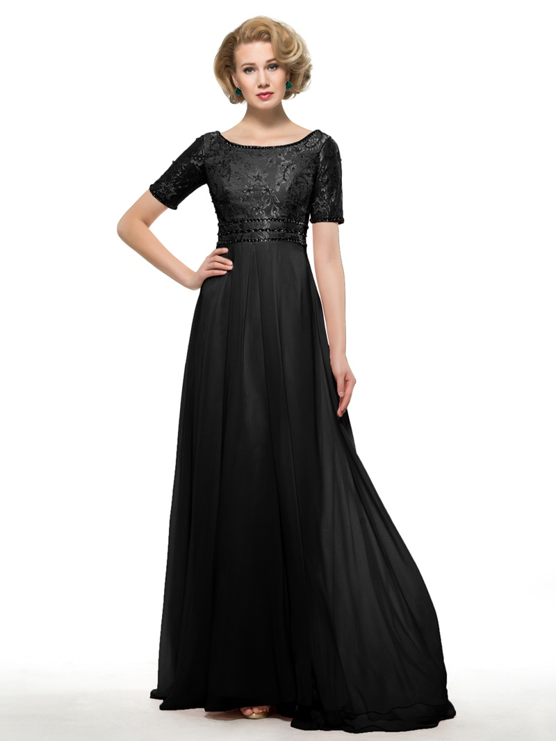Ericdress A Line Short Sleeve Lace Mother Of The Bride Dress