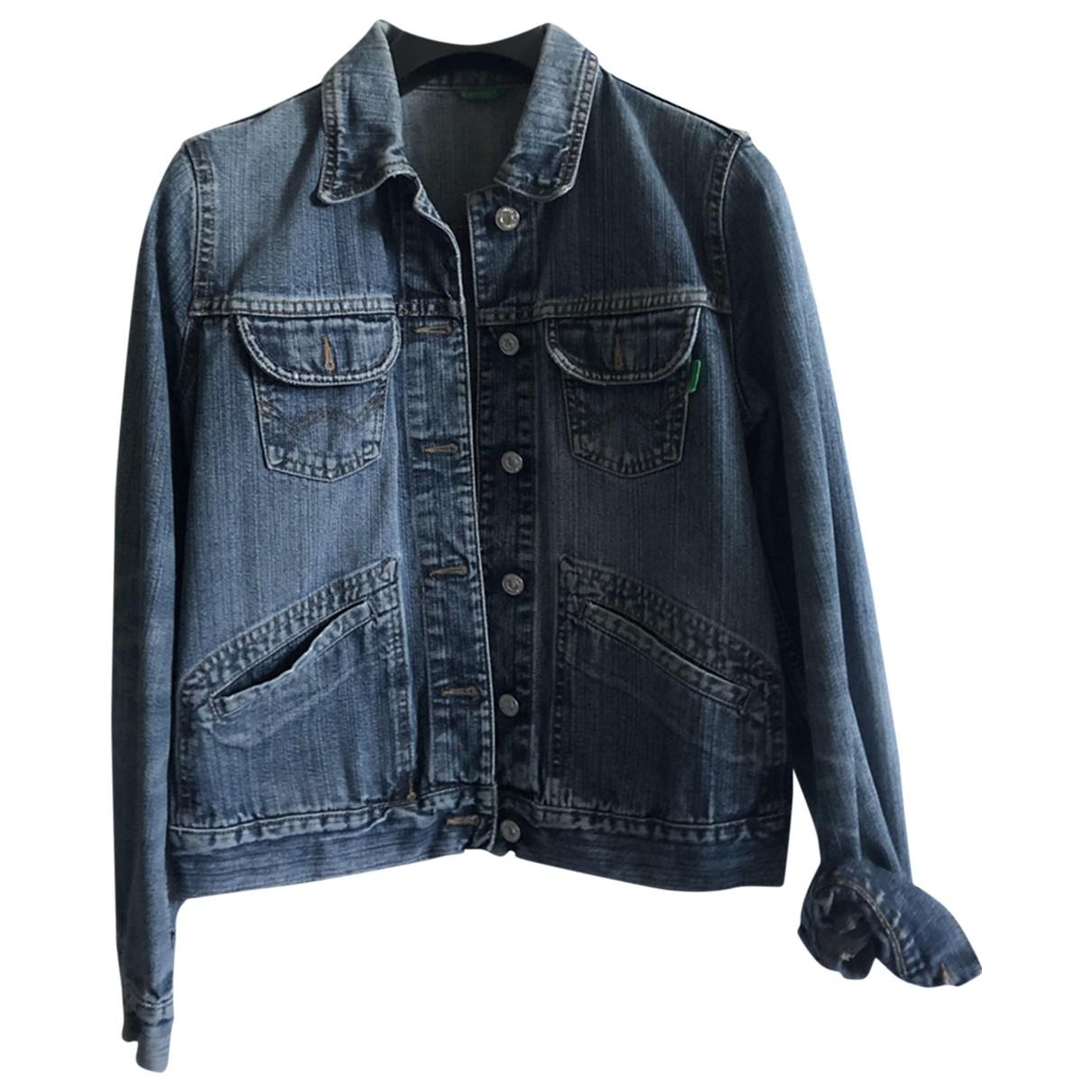 Benetton \N Blue Denim - Jeans jacket for Women S International