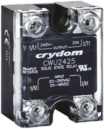 Sensata / Crydom 25 A Solid State Relay, Zero Cross, Panel Mount, SCR, 280 V ac Maximum Load