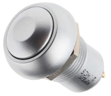 APEM Single Pole Single Throw (SPST) Latching Push Button Switch, IP67, 12.9 (Dia.)mm, Panel Mount, 24V dc
