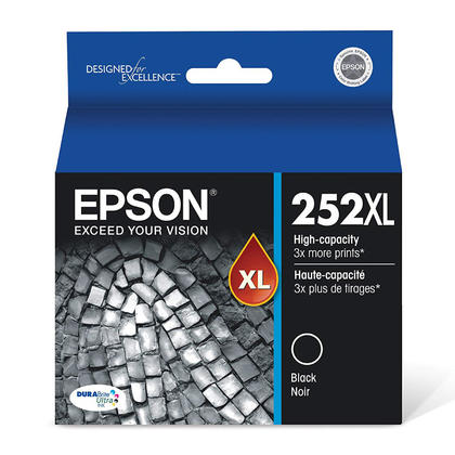 Epson 252XL T252XL120 Original Black Ink Cartridge High Yield