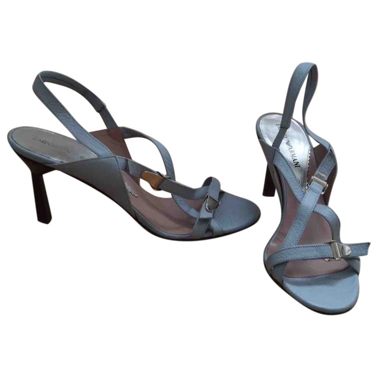 Emporio Armani \N Blue Leather Sandals for Women 37 EU