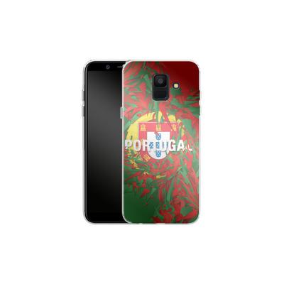Samsung Galaxy A6 Silikon Handyhuelle - Colorful Portugal von Danny Ivan