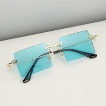 Maenner rahmenlose Sonnenbrille