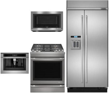 4 Piece Kitchen Appliance Package with JS42PPDUDE 42