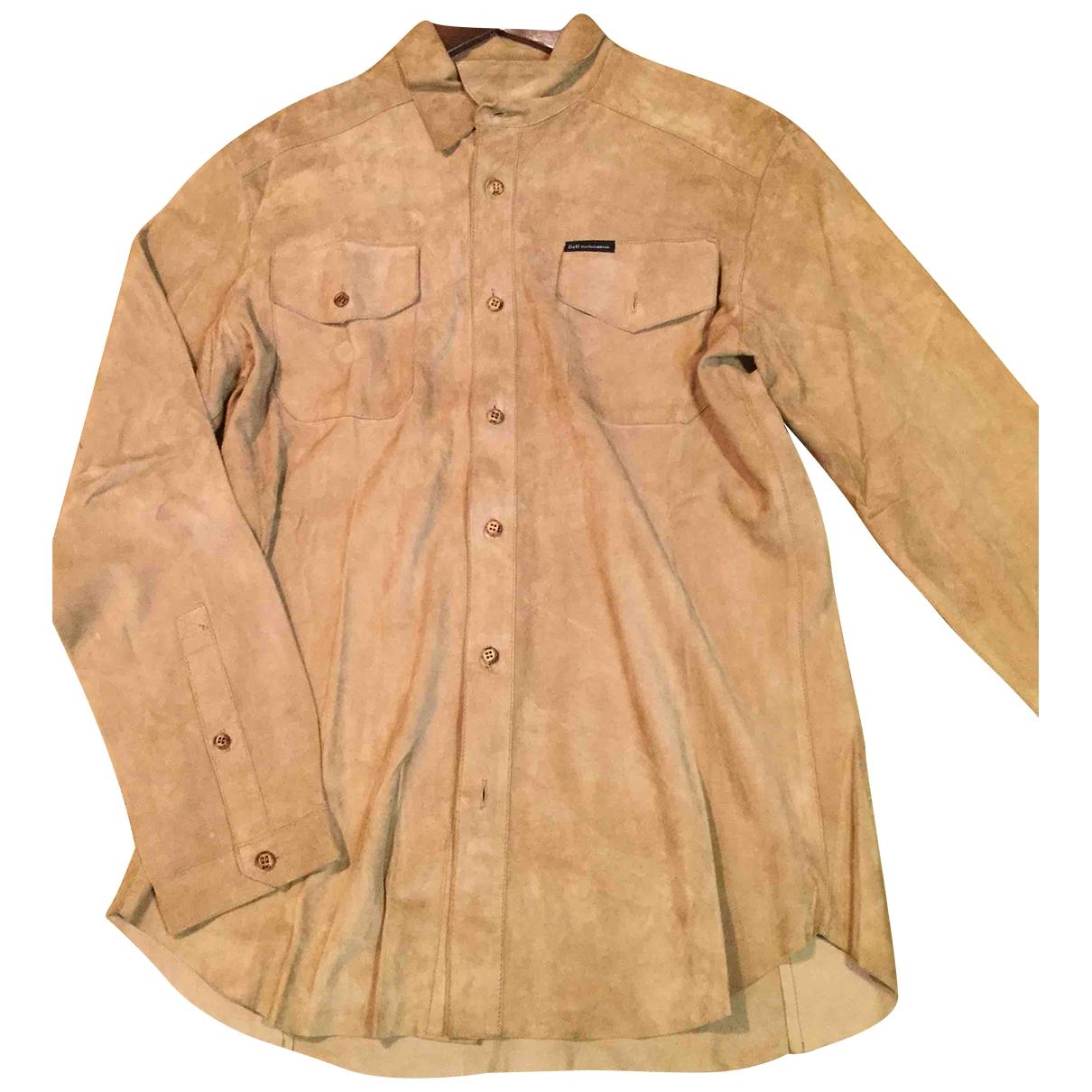 D&g \N Camel Leather Leather jacket for Women L International