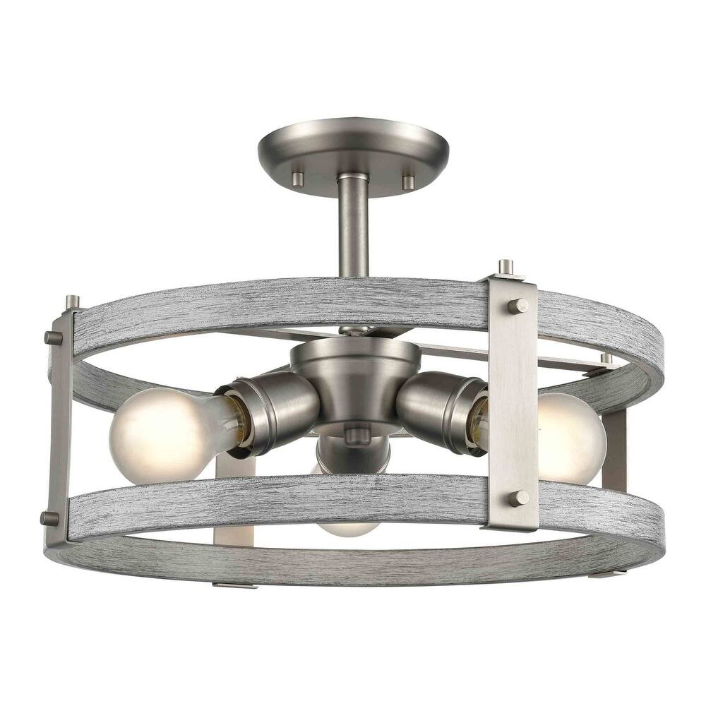 DVI Lighting DVP40312BN BIW Three Light SemiFlush Mount Oakhurst Buff - One Size (One Size - Clear)