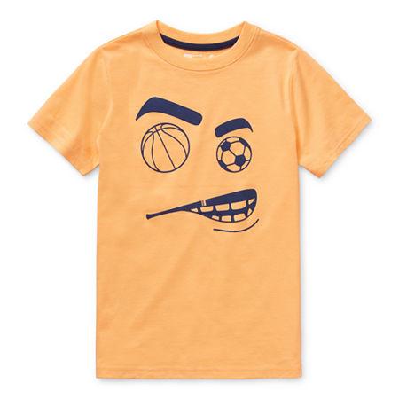 Xersion Little & Big Boys Crew Neck Short Sleeve Graphic T-Shirt, Small (8) , Orange