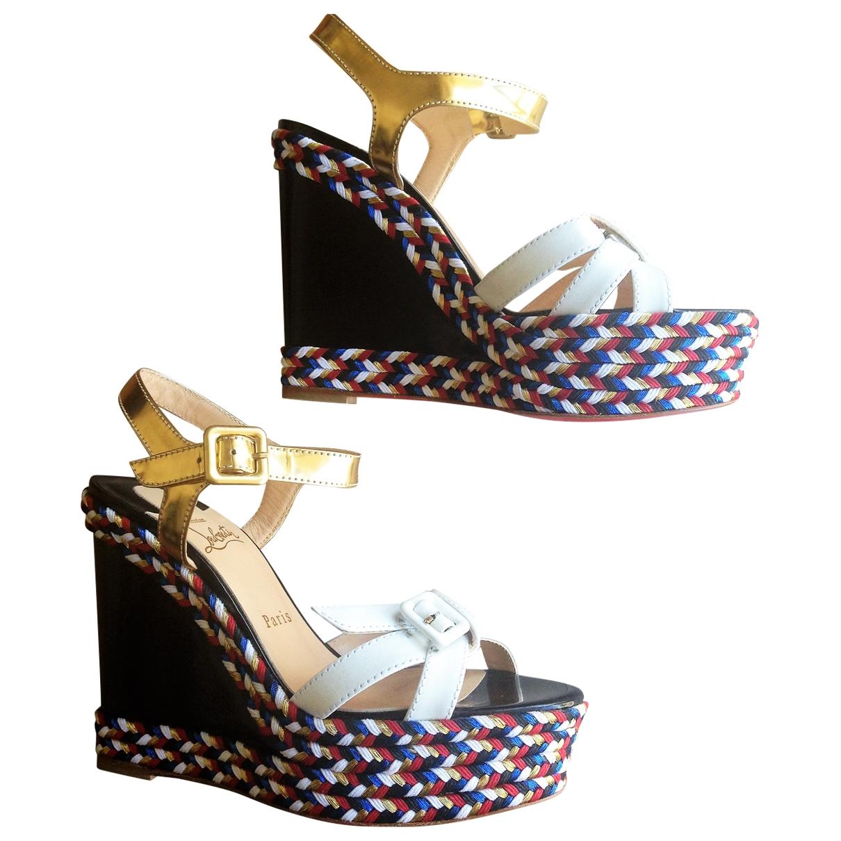 Christian Louboutin \N Multicolour Leather Sandals for Women 38 EU