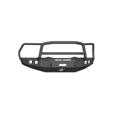 Road Armor Stealth Front Winch Bumper with Lonestar Guard (Black) - 4151F5B