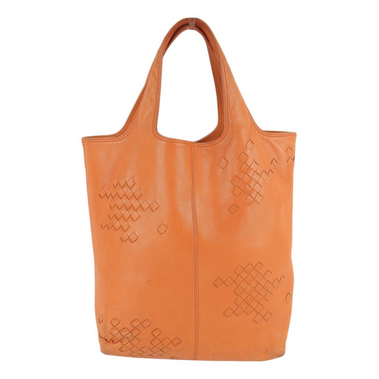 Bottega Veneta - Sac a main   pour femme en cuir - orange