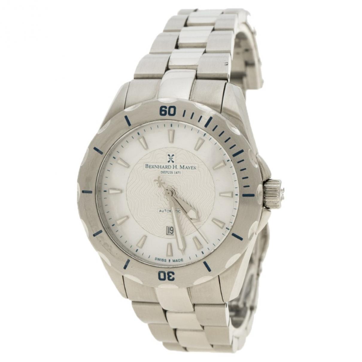 Bernhard H Mayer \N Uhr in  Silber Stahl