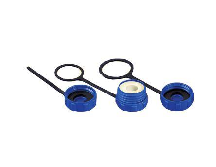 Bulgin , Buccaneer 400 Plug Circular Connector Dust Cap IP68 Rated, Blue (5)