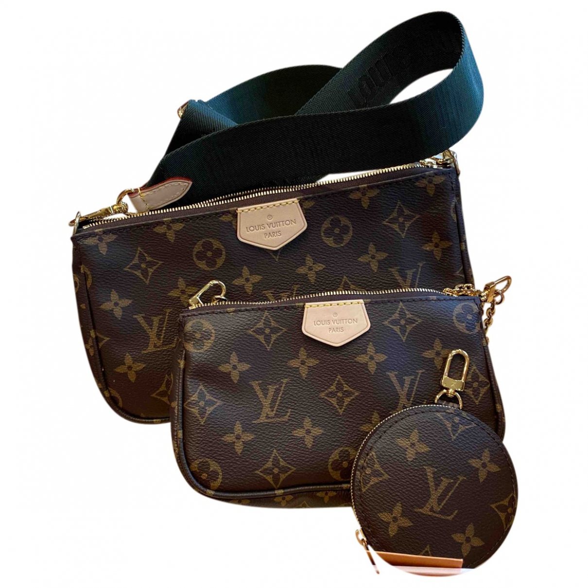 Louis Vuitton Multi Pochette Access Handtasche in  Braun Leinen