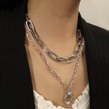 2 piezas collar de cadena minimalista