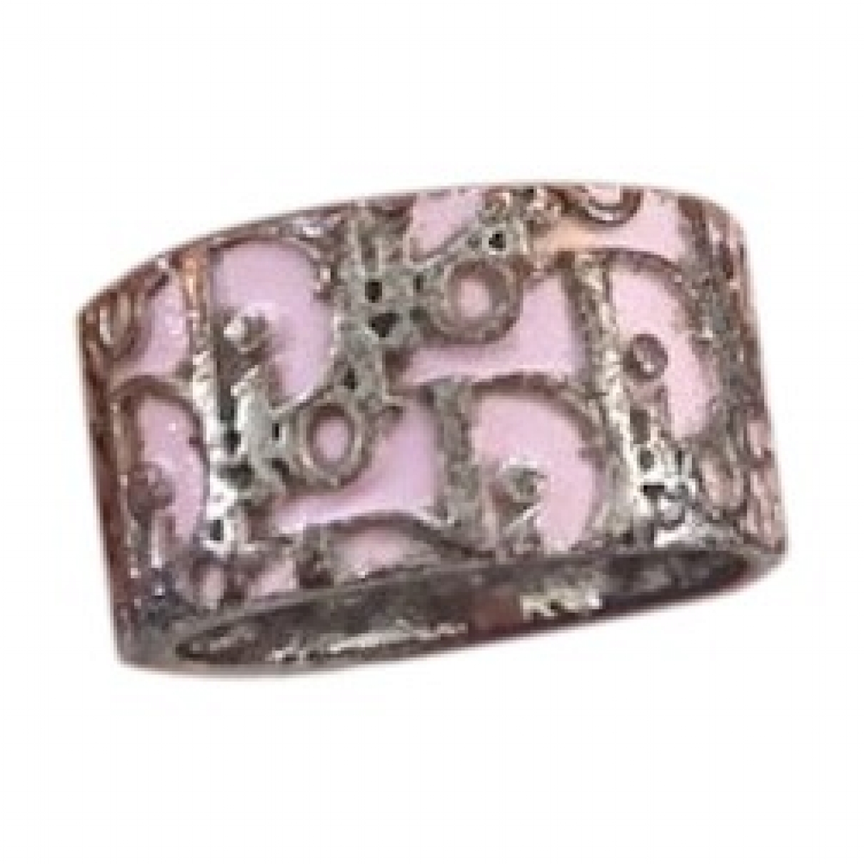 Dior \N Pink Metal ring for Women \N
