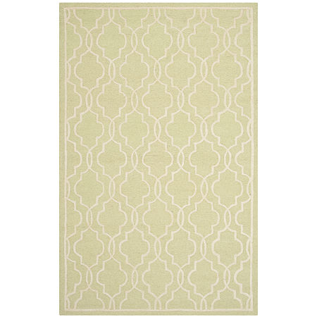 Safavieh Chester Quatrefoil Wool Area Rug, One Size , Green