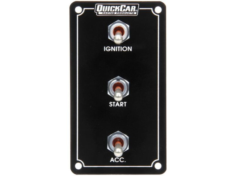 Quickcar Racing Products Ignition Panel Extreme Vertical 3 Switch Single Ignition