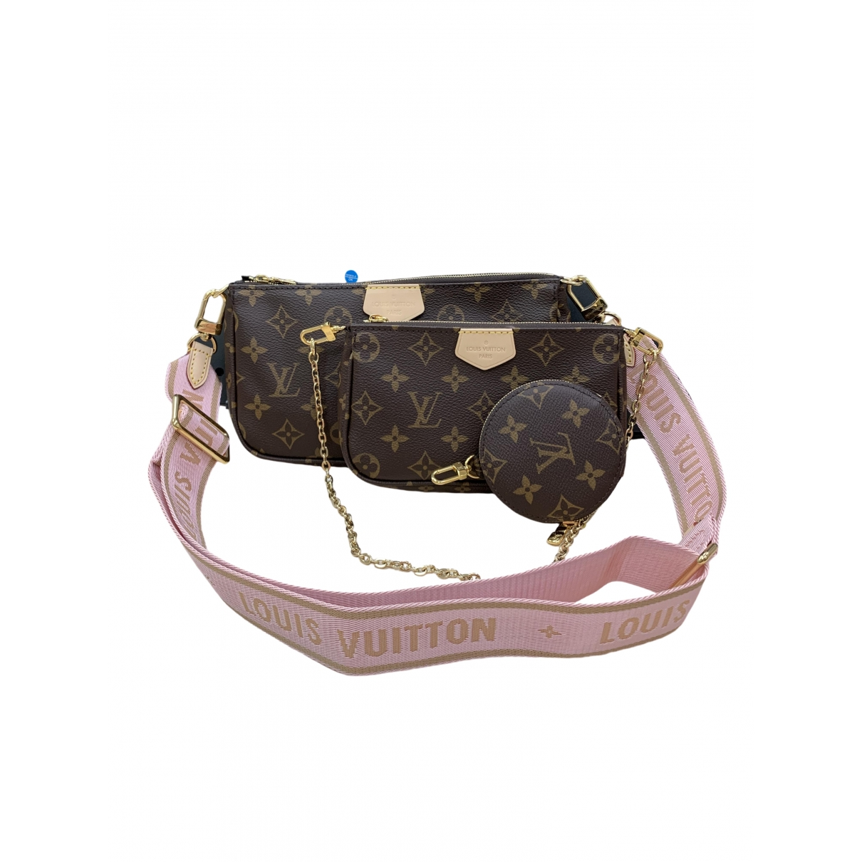Louis Vuitton Multi Pochette Accessoires Brown Cloth handbag for Women \N