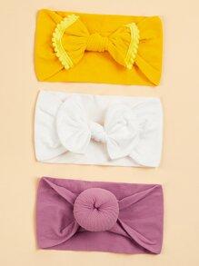 Girls Cute Knot Elastic Headband 3pack
