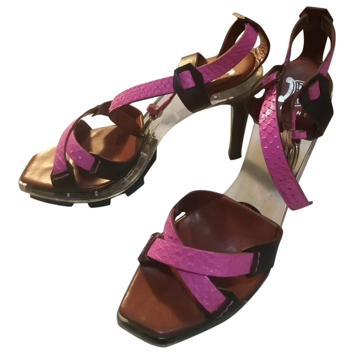 Celine - Sandales   pour femme en cuir - multicolore