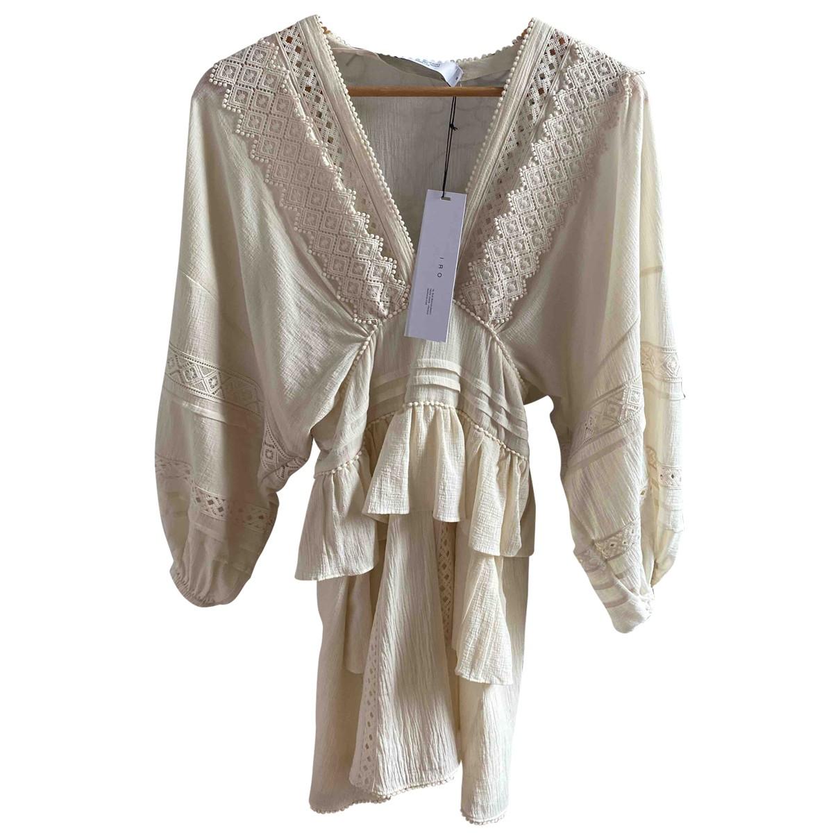 Iro - Robe Spring Summer 2020 pour femme en coton - beige