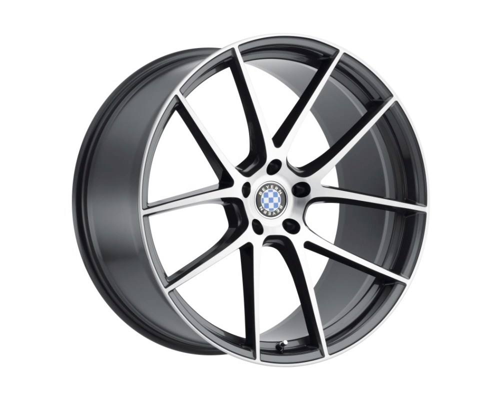 Beyern Ritz Wheel 18x8.5 5x120 15mm Gloss Gunmetal w/ Brushed Face