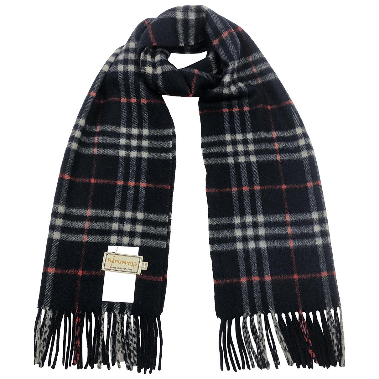 Burberry \N Blue Cashmere scarf & pocket squares for Men \N