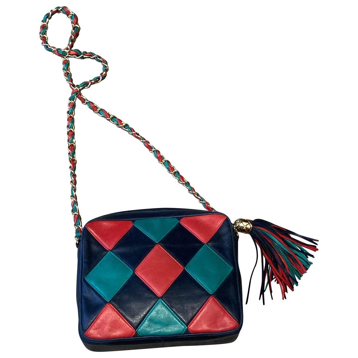 Chanel - Sac a main   pour femme en cuir - multicolore