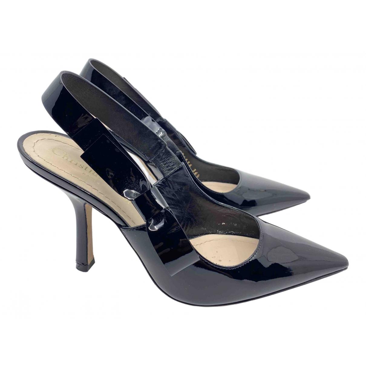 Dior - Escarpins Sweet-D pour femme en cuir verni - noir