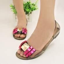 Transparente Sandalen mit Strass Dekor