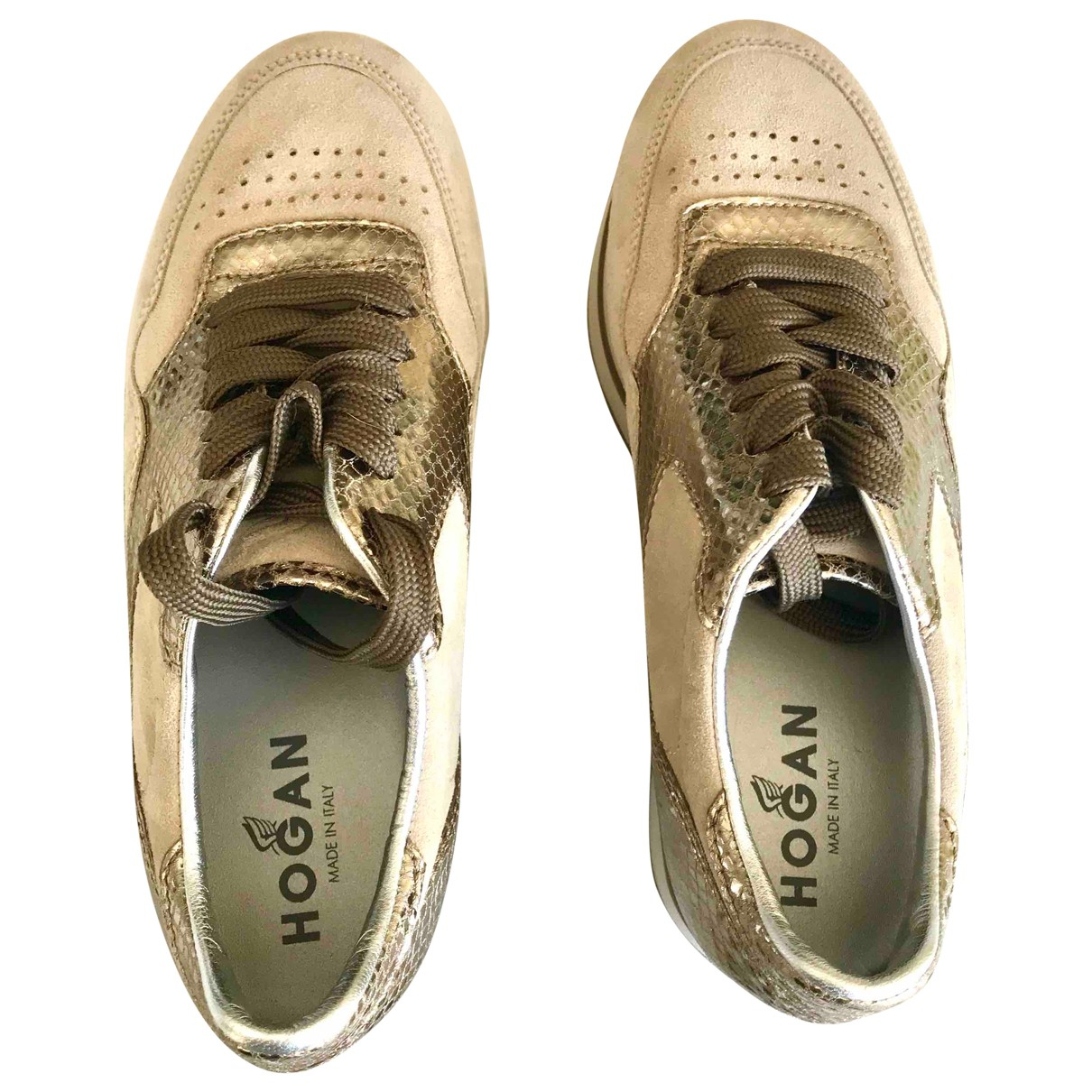 Hogan \N Brown Suede Trainers for Women 37.5 IT