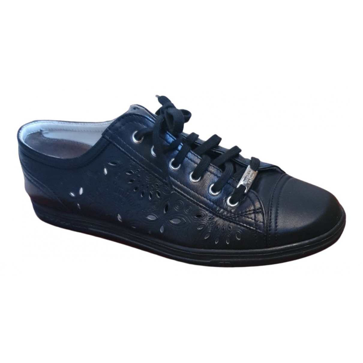 Baldinini N Black Leather Trainers for Women 40 EU