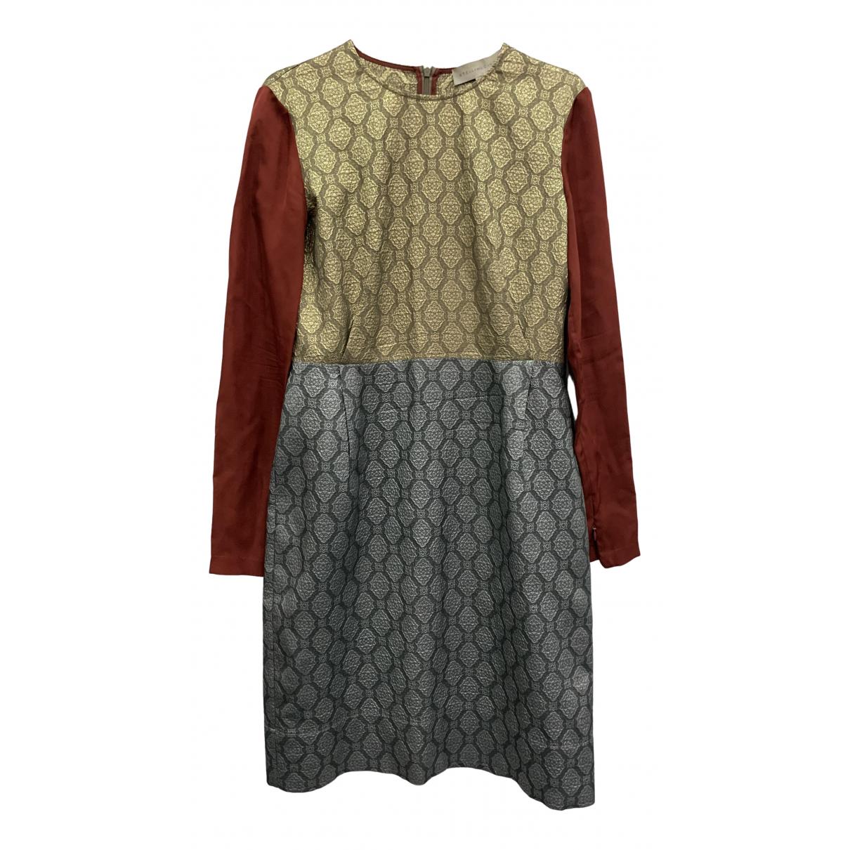 Stella Mccartney \N Kleid in  Metallic Seide