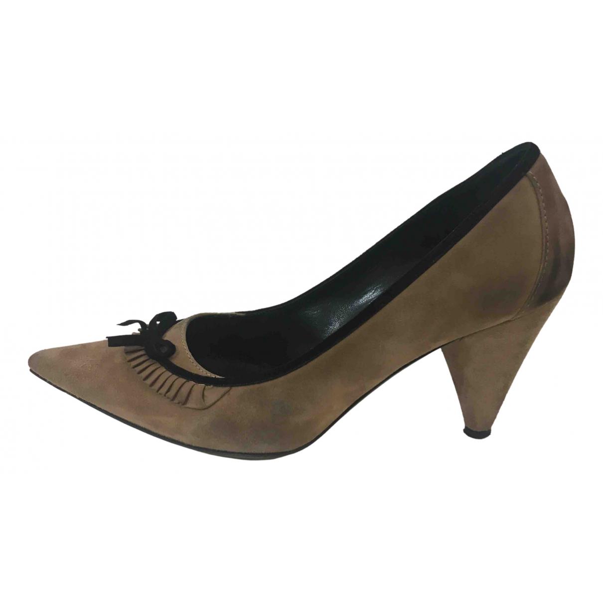 Fendi N Beige Leather Heels for Women 41 EU