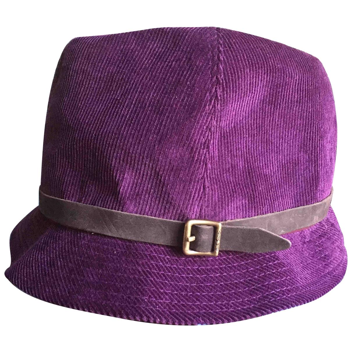 Paul Smith - Chapeau & Bonnets   pour homme en coton - violet