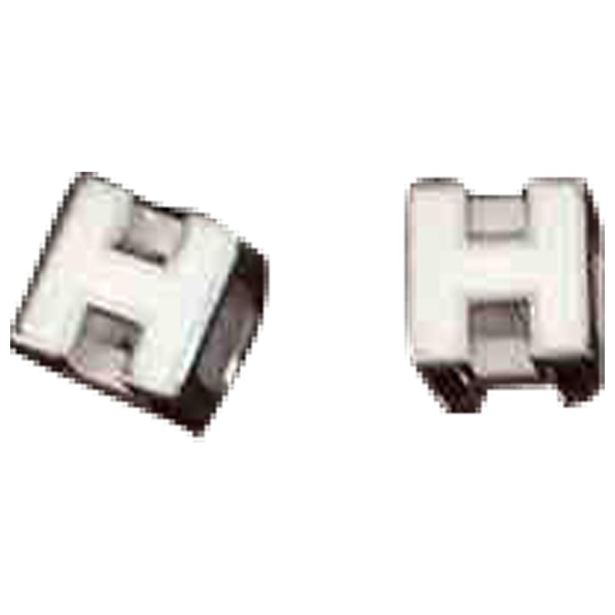 Hermes \N OhrRing in  Weiss Metall