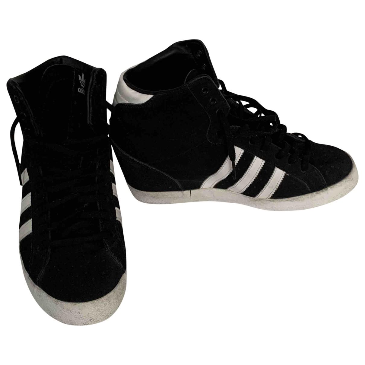 Adidas - Baskets   pour femme en suede - noir