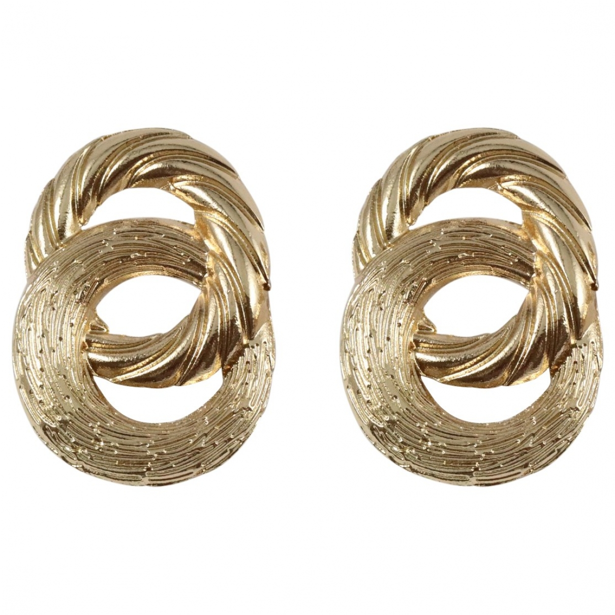 Non Signe / Unsigned \N OhrRing in  Gold Metall