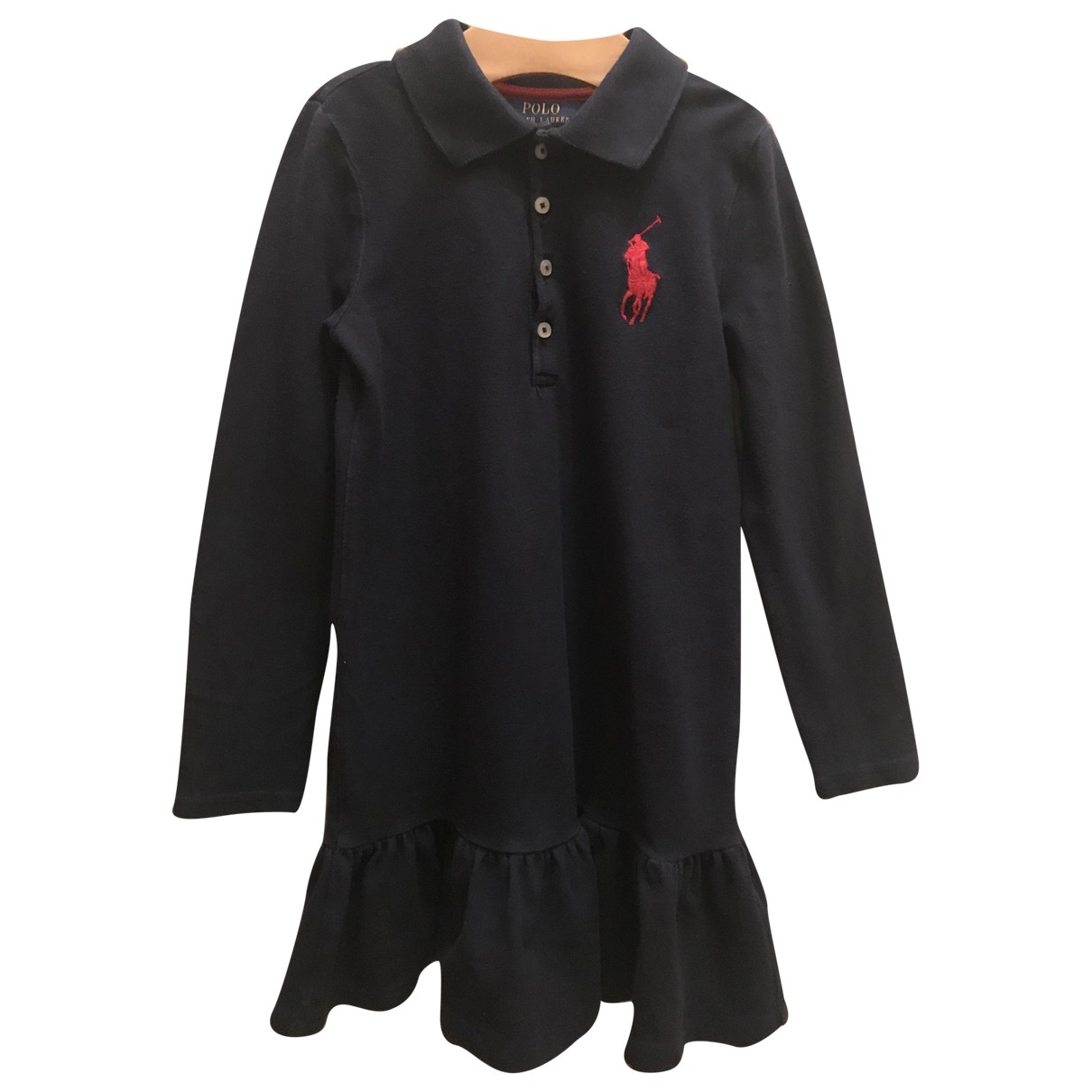 Polo Ralph Lauren - Robe    pour enfant en coton - elasthane - bleu