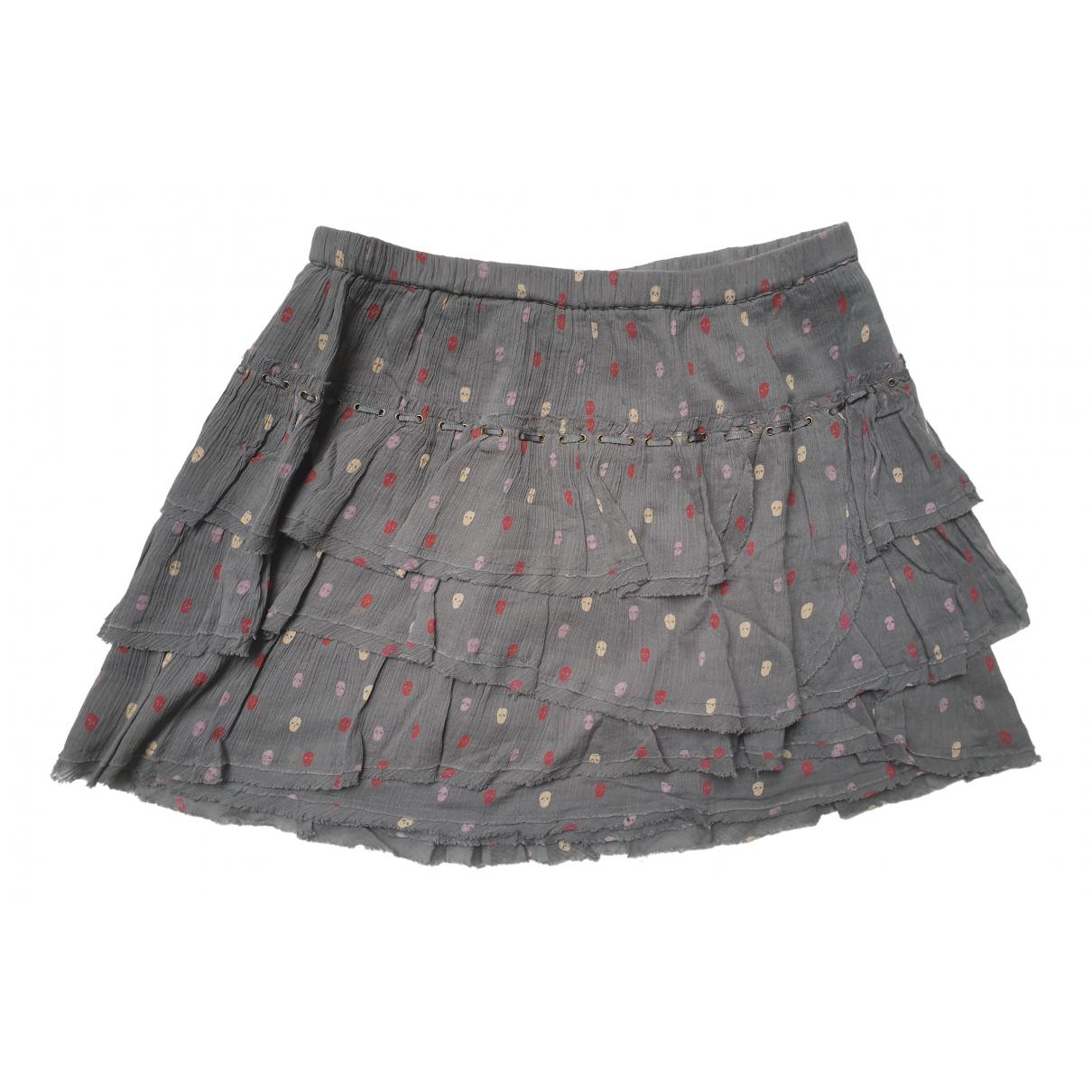 Zadig & Voltaire N Grey Cotton skirt for Women 38 FR