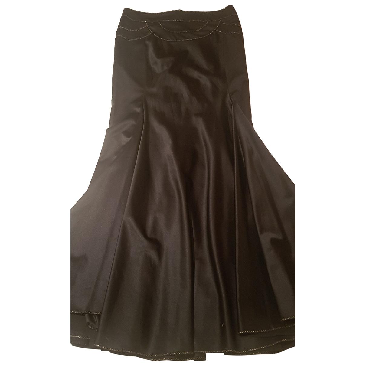 Roberto Cavalli \N Black Silk skirt for Women 42 FR