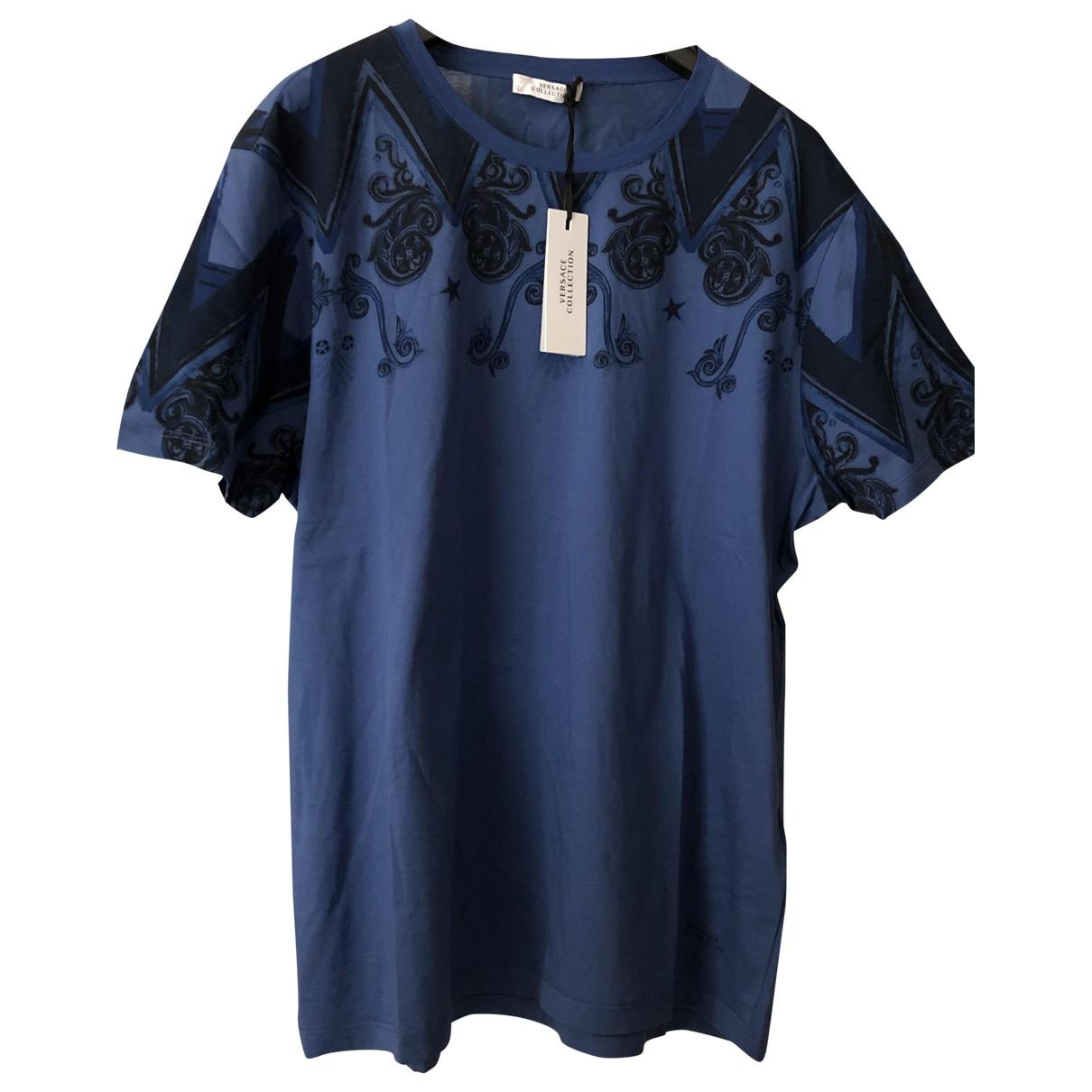 Versace \N Blue Cotton T-shirts for Men XXXL International