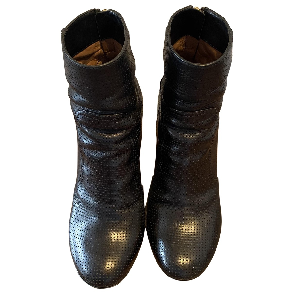 Laurence Dacade \N Black Leather Ankle boots for Women 39 IT