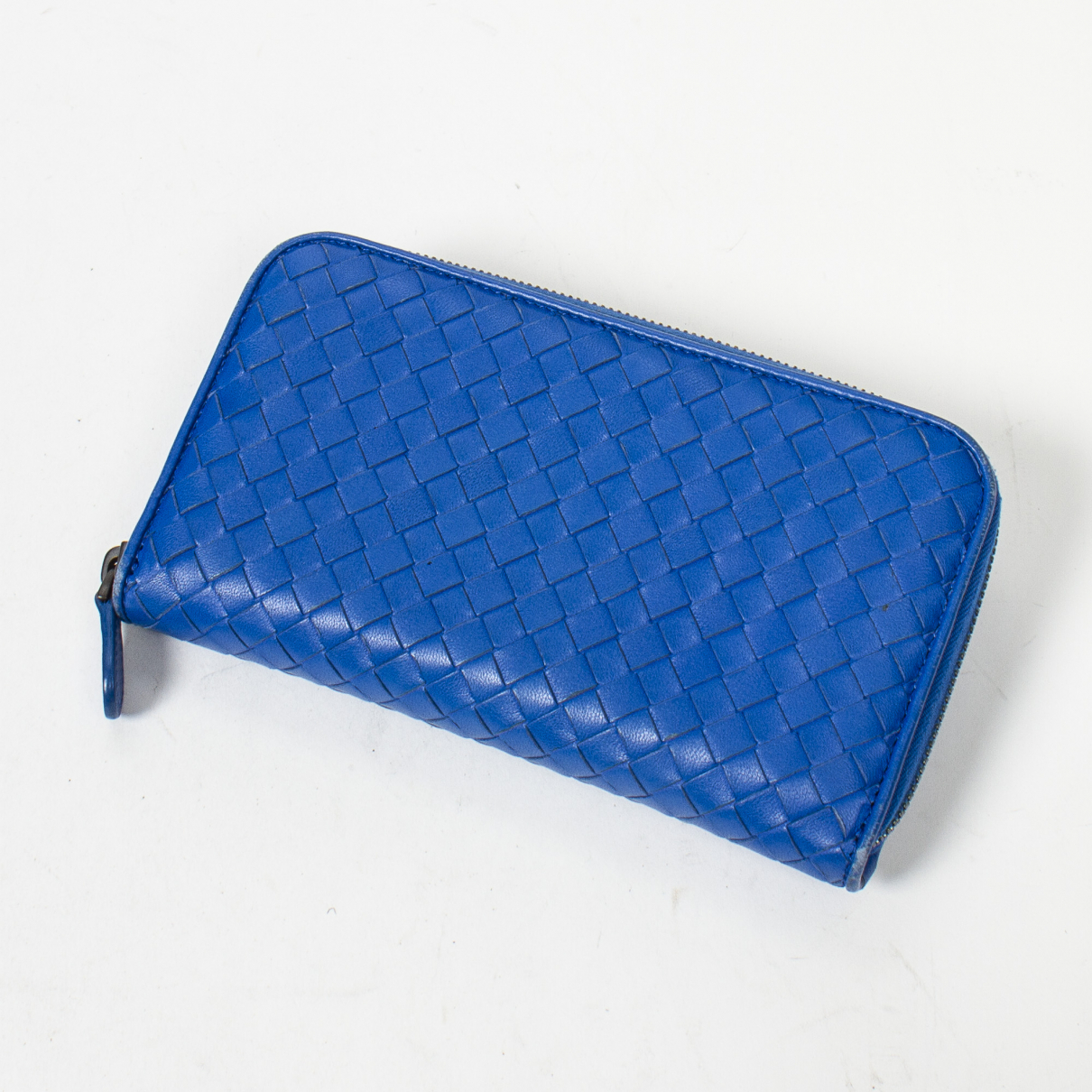 Bottega Veneta Intrecciato Blue wallet for Women \N