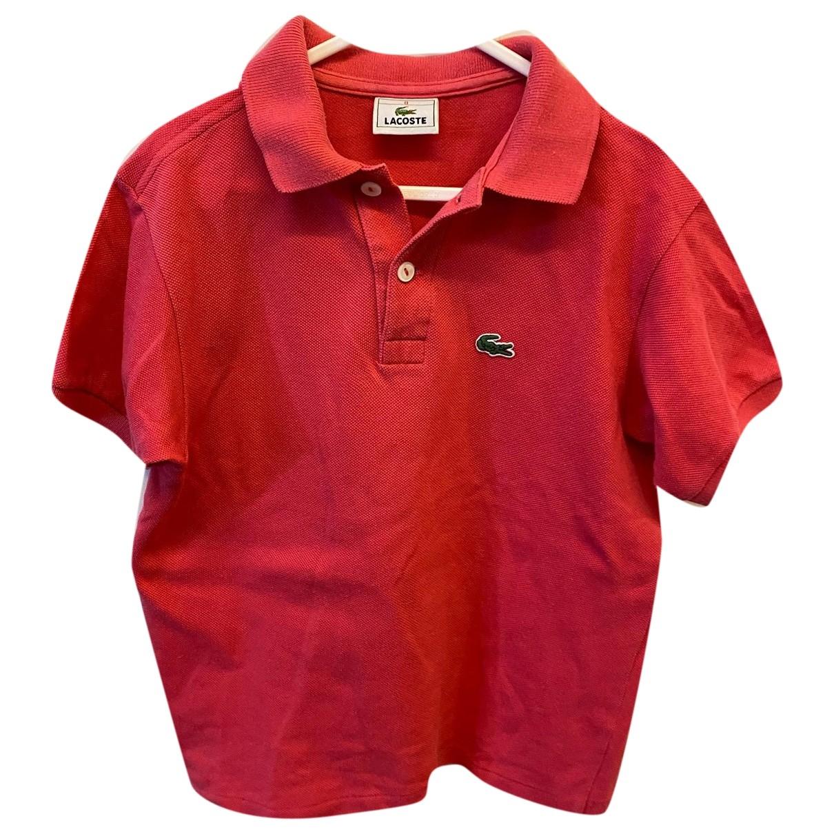 Lacoste - Top   pour enfant en coton - rose