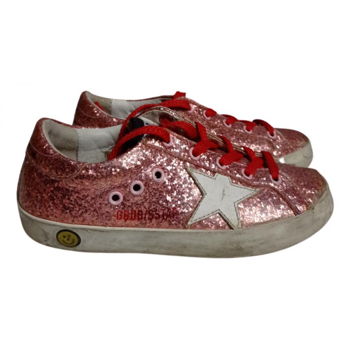 Golden Goose Superstar Sneakers in  Rosa Mit Pailletten