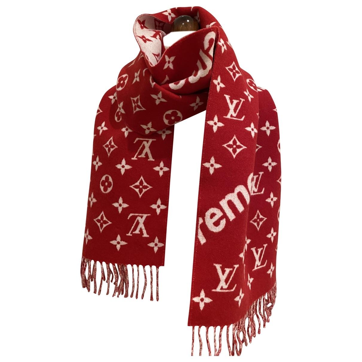 Louis Vuitton X Supreme \N Tuecher, Schal in  Rot Kaschmir
